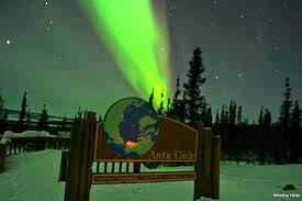 northern lights and arctic circle day