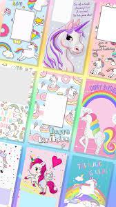 Invitaciones De Unicornio Para Editar For Android Apk Download