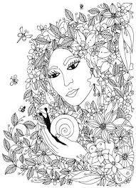 Kleurboek Pagina Voor Volwassenen Vrouw In Een Lange Jurk Mode