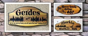 carved wooden signs custom