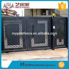 China Factory Latest Front Modern Laser Cut Gate Design Philippines Wrought Iron House Main Gate Aluminum Garden Gates View Laser Cut Gate Yishujia Product Details From Shijiazhuang Yishu Metal Products Co Ltd