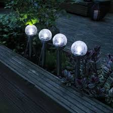 china solar powered le glass ball