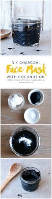 diy charcoal face mask with coconut oil