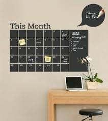 Chalkboard Calendar Decal With Memo Chalkboard Wall Calendars Chalkboard Calendar Chalkboard Wall Decal
