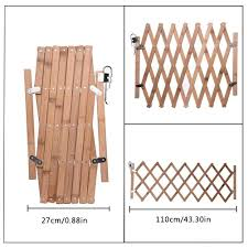 New Wood Folding Pet Dog Barrier Wooden Safety Gate Expanding Swing Puppy Fence Door Simple Stretchable Wooden Fence Houses Kennels Pens Aliexpress