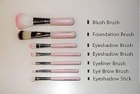 pink soft makeup brush set