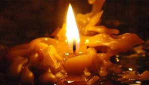 candle wax from glass top dining table