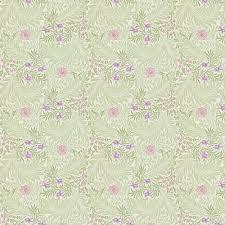 larkspur by morris pale green pink