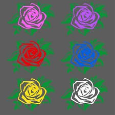Two Color Rose Decal Roses Flowers Window Bumper Sticker Car Decor Free Us Ship Ebay