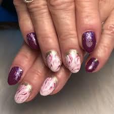 day 310 cuffed marble nail art 365