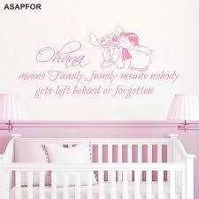 Lilo Stitch Wall Decal Quote Ohana Family Means Nobody Gets Left Behind Or Forgotten Vinyl Sticker Kids Nursery Baby Room Decor Buy At The Price Of 5 99 In Aliexpress Com Imall Com