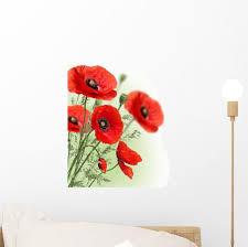 Poppies Flowers Border Wall Decal Wallmonkeys Com