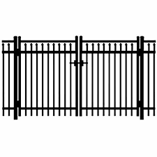 Jerith Legacy 200 Aluminum Double Swing Gate In 2020 Aluminum Fence Double Swing Fence Sections