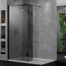 frosted glass shower wall panels effect