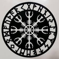 Helm Of Awe Viking Celtic Rune Aegishjalmur Runic Die Cut Vinyl Stic Sticky Addiction
