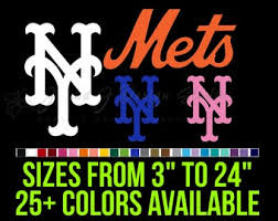 New York Mets Decals Etsy
