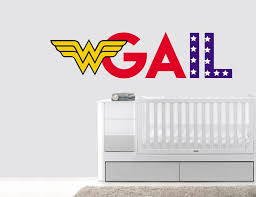 Custom Name Wonder Woman Letters Wall Decal Egraphicstore