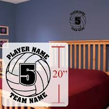 Volleyball Wall Decal Personalized Volleyball Room Stickers Vinyl Decals Ebay