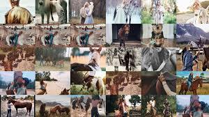 صور فتاة مع حصان جميلة جداا