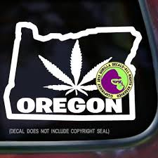 Oregon State Marijuana Vinyl Decal Sticker Gorilla Decals