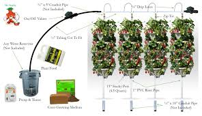 diy vertical hydroponic 4 tower kit