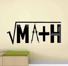 Math Wall Decal Classroom Sign Teacher Gift Vinyl Sticker Mathematics Poster 988 For Sale Online