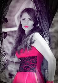 woman model red lace