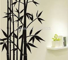 Black Bamboo Forest Wall Stickers Chinese Ink Painting Diy Wall Decal Mural Vinyl Pvc Removable Sticker Home Sitting Room Decor Wall Stickers Aliexpress
