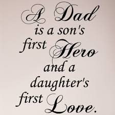Dad Son S Hero And Daughter S Love Quote Wall Art Sticker Decal For Sale Online Ebay