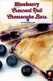 blueberry crescent roll cheesecake bars