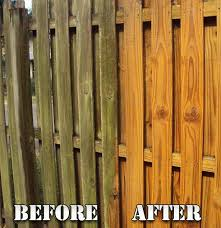 Power Washing Fence Painting And Staining Wood Fence Services