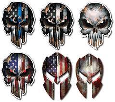 6 Pack Skull Molon Labe Usa Flag Spartan Buy Online In Japan At Desertcart