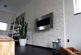 white stone fireplace wall white rock