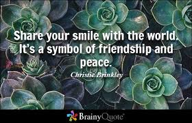 brainy quote share your smile the world it s a symbol of