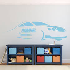 Race Car Wall Decor Kids Personalized Motor Sports Vinyl Wall Decal Sticker For Boy S Bedroom Playroom Or Gameroom Customvinyldecor Com