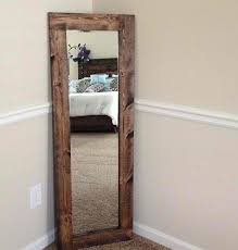 stand up mirror rustic room bedroom diy