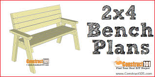 2x4 bench plans step by step