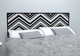 Chevron Pattern Headboard Decal Zig Zag Pattern Vinyl Wall Sticker Removable Bedroom Decor Headboard Wall Graphic Twin 45 X 22 Black Buy Online In China Wall Decal