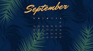 cute september 2018 calendar wallpaper