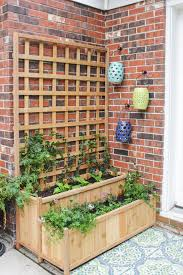 tiered planter with trellis shades of