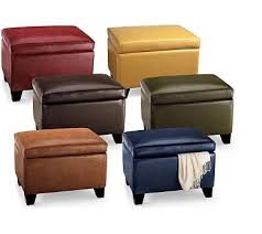 modern leather ottomans with storage