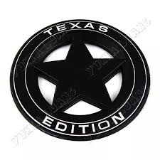 3d White Black Alloy Texas Edition Car Emblem Sticker For Ram Jeep Chevy Ford Emblem Sticker Car Emblemtexas Edition Aliexpress