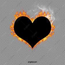 قلب محروق القلب قلب أسود قلب محروق Png وملف Psd للتحميل مجانا