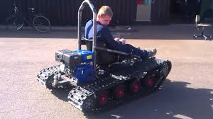 home made tracked vehicle first test