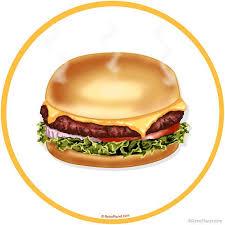 Cheeseburger Food Wall Decal Etsy
