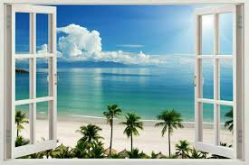 3d Window View Landscape Wall Poster Stickers Mural Wallpaper Decal Decoration For Sale Online Ebay