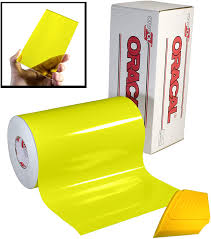 Amazon Com Oracal 8300 Transparent Yellow 12 X 24 Colored Window Tinting Vinyl Roll For Cricut Silhouette Cameo Including Hard Yellow Detailer Squeegee 1 Roll Pack Kitchen Dining