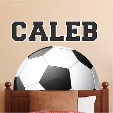 Personalized Soccer Name Wall Decal Decor Removable Kids Room Wall Spo American Wall Designs