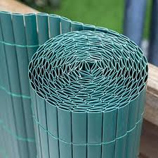 Papillon 4m X 1 5m 13ft 1in X 4ft 11in Artificial Green Bamboo Cane Plastic Garden Fence Screening Roll Privacy Border Wind Sun Protection Amazon Co Uk Garden Outdoors