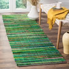 safavieh rag rug green multi 2 ft 3 in